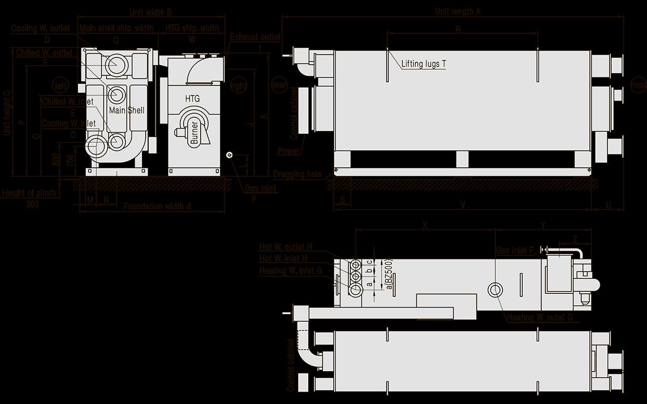 фундамента АБХМ BROAD BZ200/BZ250/BZ300/BZ400/BZ500