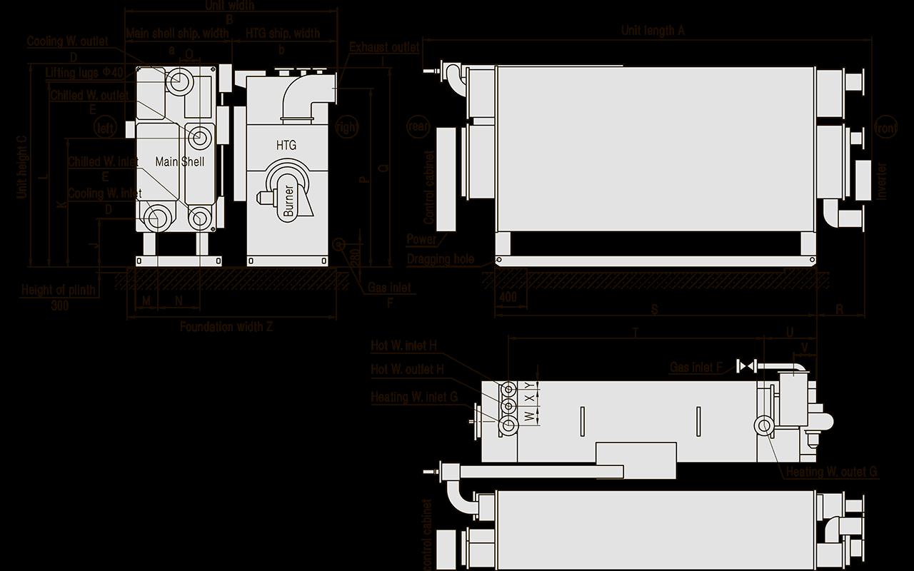 размеры фундамента абхм broad прямого горения, газовая система абхм broad