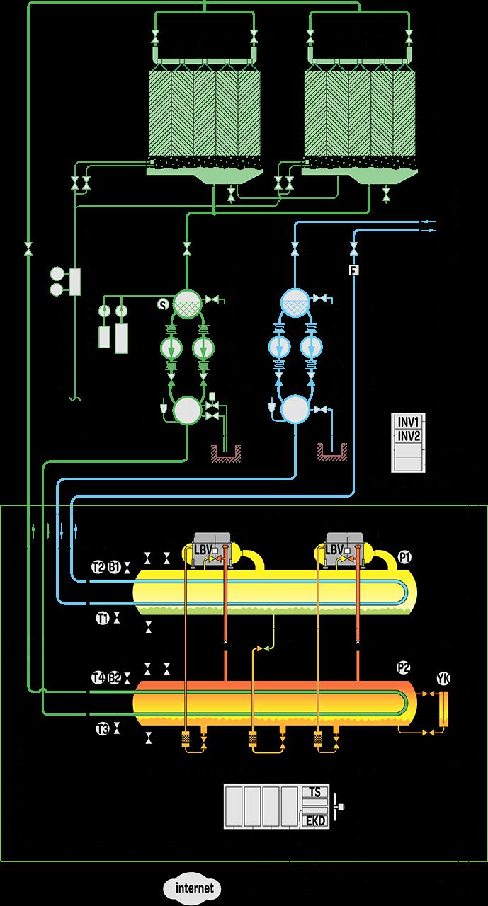 схема электрического чиллера broad